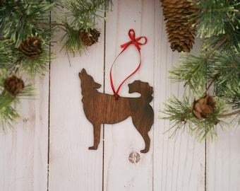 Customizable Siberian Husky Dog Christmas Tree Ornament | Personalized Dog Ornament