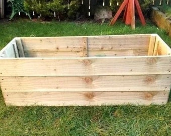 38CM High Raised Bed Wooden Planter, Vegetables, Seeds, Bedding, Herbs