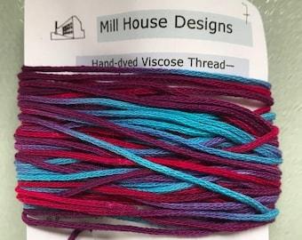 Hand-dyed Viscose Thread