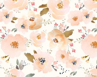 Organic cotton Crib sheets & Mini crib sheets including Babybjorn Lotus Arms Reach Bloom Baby 4Moms etc Blossoming floral in peach gold pink