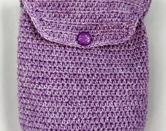 Crochet backpack Purple child summer bag