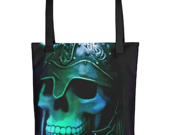 Skull Warrior Tote bag