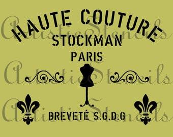 STENCIL French Haute Couture Stencil 10x13