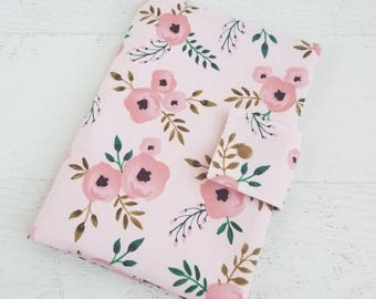 Floral Diaper Clutch Bag | Small Baby Girl Diaper Bag | Diaper Bag Organizer Pouches | Nappy Wallet | Nappy Pouch