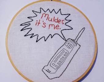 The X-Files - Hand Embroidery - Scully and Mulder - Made To Order