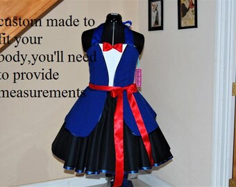 Mary Poppins Costume Adult Size Custom Made ,Mary Poppins dress