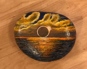 Eclipse Hand Painted Extra Large Stone