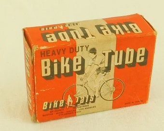 "Vintage Bike Bicycle Inner Tube, Bike Pals, 27"", Dorcy, Shop Display, Original Box, Diorama, Gift for Cyclist, Retro Part, Cycling Tube, Old"