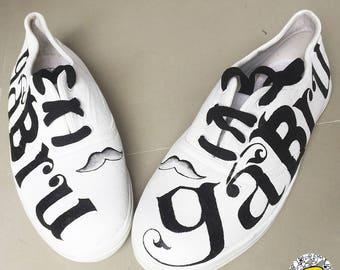 Badhuche Gabru Hand Painted Canvas Shoes