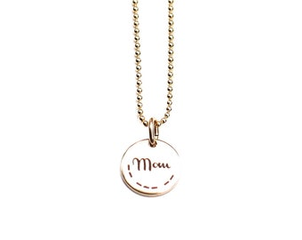 Mom Necklace with Morse Code secret message