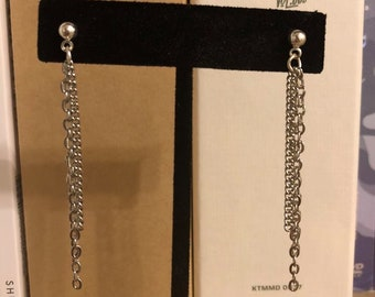Taehyung layered chain earring