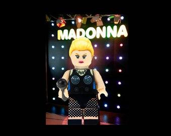 Madonna Minifigure Custom Minifigure Famous Minifigure Madonna Gift Tribute Rockstar minifigure musician compatible with lego