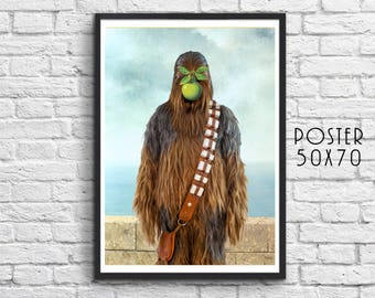 """Chewbacca in """"The Son of a Man"""" by Magritte"""