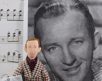 Bing Crosby Doll MIniature Music History Art Character Vintage Hollywood