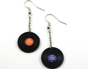Mini Record Earrings
