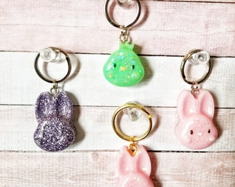 Kawaii Easter Bunny & Chicks Mini Keychain