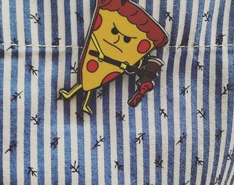 Pizza Axe, Pizza Enamel Pin, Cute Lapel Pin, Lapel Pin for Her, Lapel Pin for Him, Pizza Lapel Pin