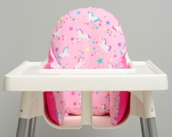 Unicorn IKEA High Chair Cover, IKEA Antilop Cover, Highchair Cover, High Chair Cushion Insert, Unicorn Party Decorations, Trending Baby Item
