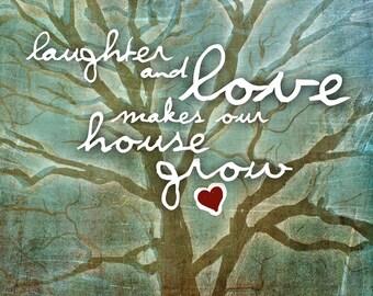 Laughter and Love / original illustration ART Print SIGNED / 8 x 10