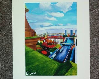 Limited edition print - River Spree from Berlin Cathedral in A3 A4 or 7x5""