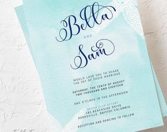 Beach Side - Wedding Invitations (Style 13200)