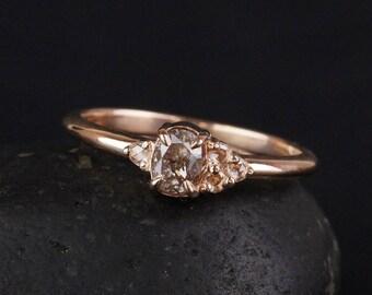 Bague - Or Rose - anniversaire bague diamant rose naturel