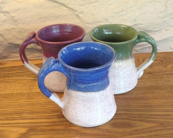 Handmade ceramic mug in your choice of colors, pottery coffee cup, stoneware mug in assorted colors