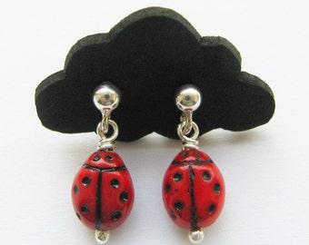 Earrings ladybugs 60