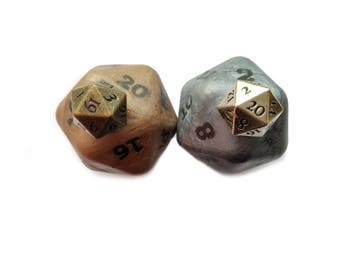 Pathfinder d20, Soap with Metal Alloy Die Inside, Pathfinder Dice, Pathfinder Game, Pathfinder d20 Set, dice Pathfinder, Pathfinder Set d20