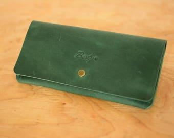 Leather women's wallet , Womens leather wallet, Women's wallet, Leather clutch, Clutch for lady, Leather Wallet, Leather Long Wallet, Gift