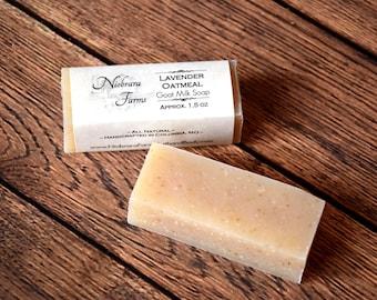 Natural Goat Milk Soap - Travel Soap Bar - Sample Soap - Guest Soap - Soap Party Favor - Lavender Oatmeal Soap - Small Soap - Gift Soap