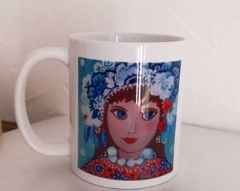 """Mug """"LOLA"""" is derived from my paintings"""