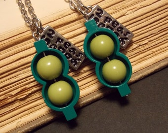 Two Peas in a Pod Friendship Necklaces