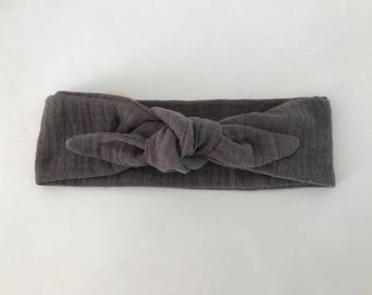 Grey headband storm double gauze