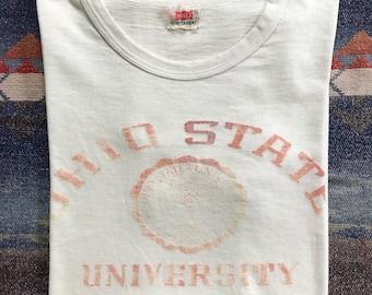 Vintage Ohio State University T-Shirt 1940~1950s (RARE) Tag Hanes Size L