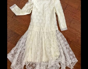 Vintage Jessica McClintock Lace Dress