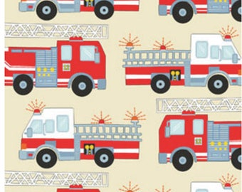 Firefighters fabric, Fire truck fabric, kids fabric, rescuers fabric 100% cotton for Quilting, arts, crafts and general sewing projects.