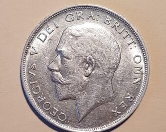 1923  silver half crown of George V