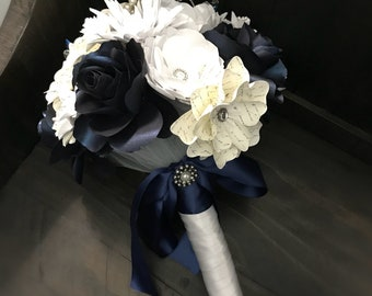 Paper flower bouquet custom order your colours with rhinestones