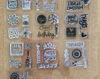 Clear Acrylic Cling Stamps * Acrylic Stamps * Acrylic Cling Stamps * Clear Stamps * Destash Stamps * Scrapbooking Supplies * CardsinStock