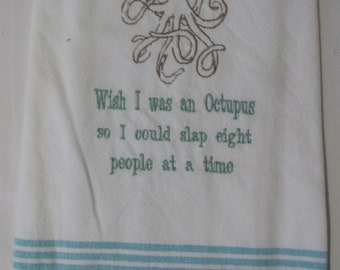 Slap 8 people at a time,embroidered towel