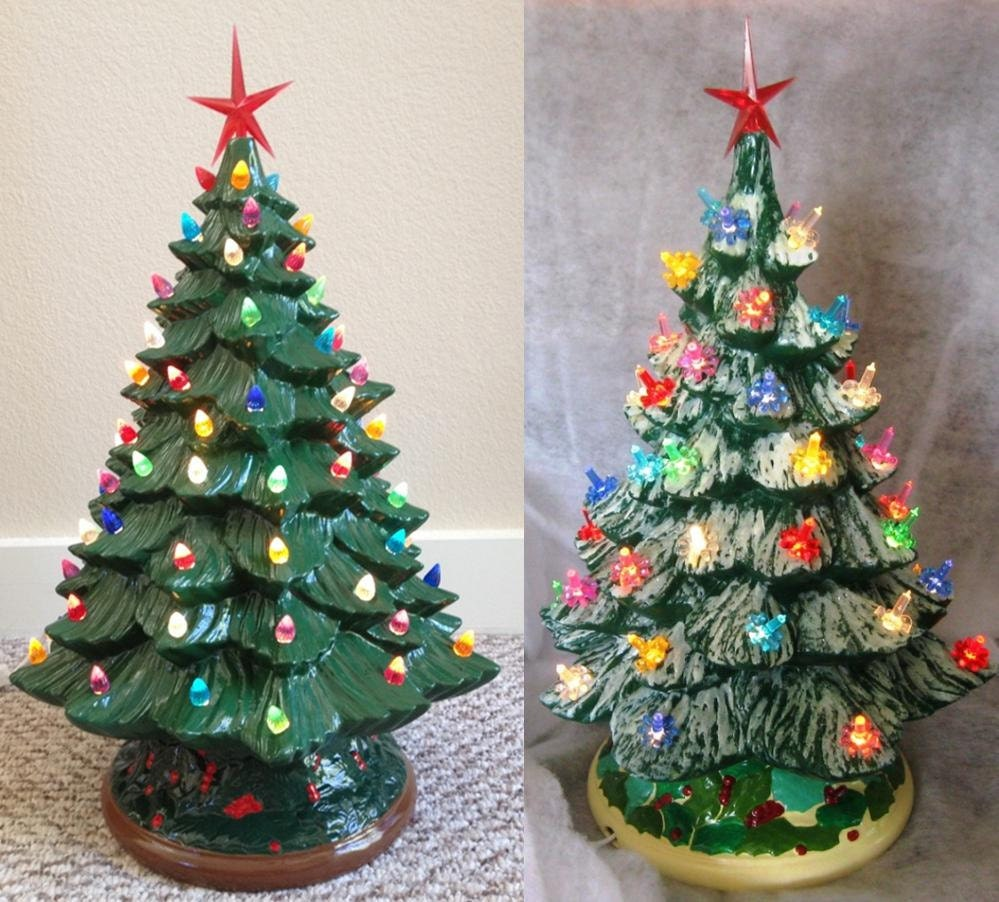 green vintage lightup ceramic christmas tree retrofestiveca