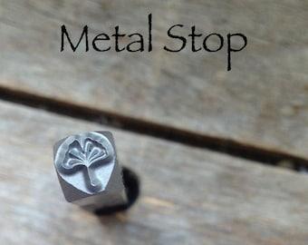 Ginkgo LEAF - Metal Design Stamp great stamping supplies