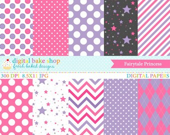 princess papers digital backgrounds - Fairytale Princess Digital Papers