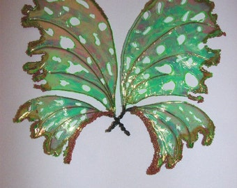 Fairy Wings-Iridescent with Fairy Wand-For Dolls, (Made by Request)