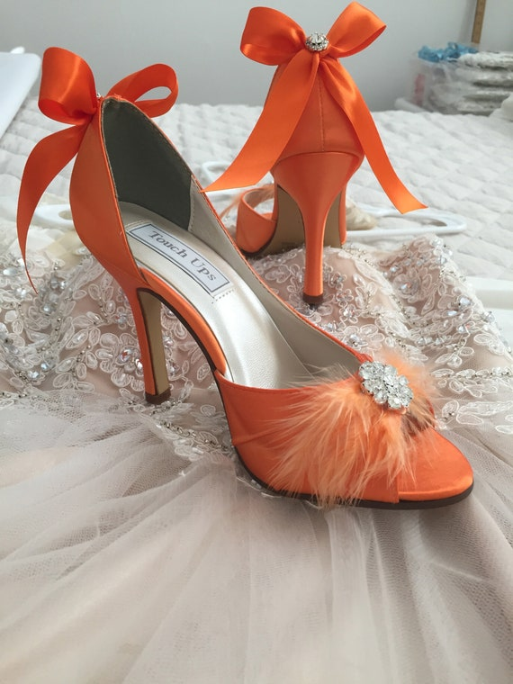Orange Wedding Shoes Bridal Shoes Wedding Shoe Orange
