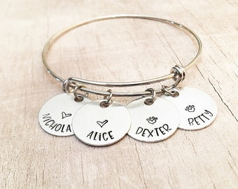 Personalized Mom Bracelet with Kids Names - Mother's Day Personalized - Name Bracelet for Mom - Mother's Day Gift for Mom
