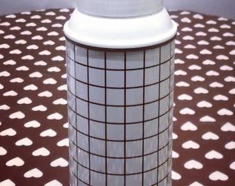 new black white checkered vintage thermos