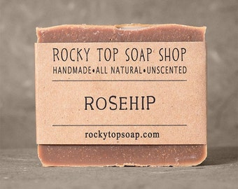 Rosehip Soap - All Natural Soap, Handmade Soap, Cold Process Soap, Unscented Soap, Vegan Soap