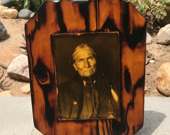 Geronimo - Apache Indian - Wooden Plaque